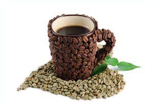 Ilustración de Consumo de Café Verde para Adelgazar