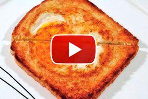 Cómo hacer tostadas rellenas con huevo para el desayuno. Tostadas rellenas con huevo. Ingredientes para hacer tostadas con huevo