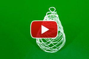 Cómo crear un adorno de Navidad con hilo en forma de Pinito. Un pinito navideño con hilo. Manualidades para Navidad: pinito en miniatura con cuerdas