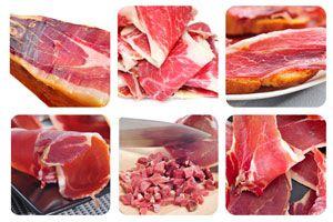 Clasificación de los distintos tipos de jamón. Cómo diferenciar entre jamón iberico y serrano. Tipos de jamón ibérico y jamón serrano