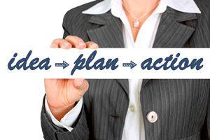 Ilustración de Cómo Poner una Idea en Acción