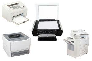 Ilustración de Tipos de Impresoras