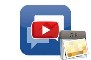 Ilustración de C&oacutemo Compartir un GIF en Facebook Messenger