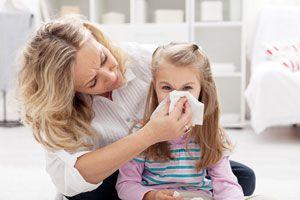 Ilustración de Cómo Evitar el Contagio de Gripe en la Familia