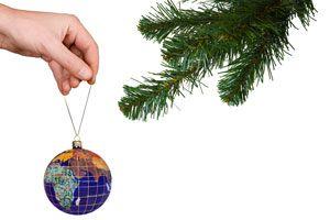 Ilustración de Cómo Cuidar el Planeta en Navidad
