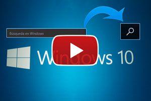 Ilustración de Cambiar el Tama&ntildeo de la Barra de B&uacutesqueda de Windows 10