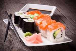 Ilustración de Cómo Comer Sushi según la Tradición