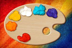 Ilustración de Materiales artísticos caseros para los niños
