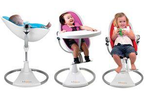 Ilustración de Sillas adaptables para cada etapa del niño