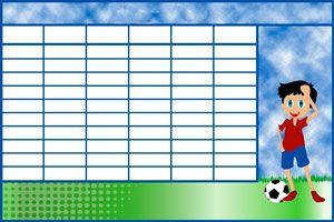 Ilustración de Una tabla de actividades y premios para fomentar los quehaceres del niño