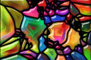 Ilustración de Cómo Colorear Vidrios con Acrílico