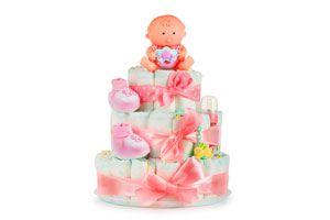 Cómo crear un pastel de pañales. qué es un pastel de pañales? Pastel de pañales para niña