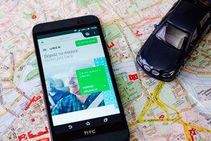 Ilustración de Cómo Funciona Uber