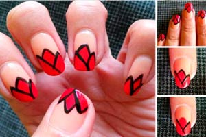Ilustración de Diseños de uñas decoradas cortas y largas