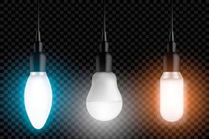 Ilustración de Bombillas LED y cartelería digital