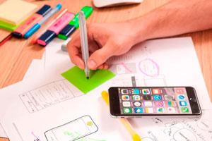 Ilustración de Tendencias de marketing online