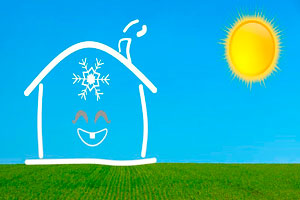 Ilustración de Opciones para disfrutar de una agradable temperatura todo el año