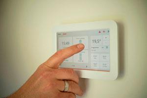 Ilustración de Tipos de Termostatos de Calefacción