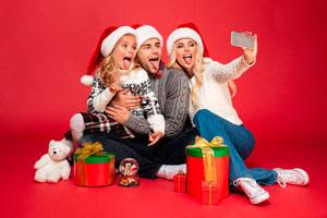 Ilustración de Como tener la mejor foto navideña
