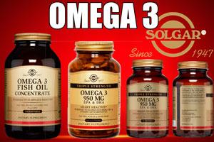 Ilustración de Suplementos nutricionales con Omega 3 de Solgar