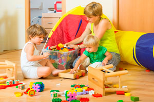 Ilustración de Los niños y las tareas domésticas: Aprendizaje y diversión