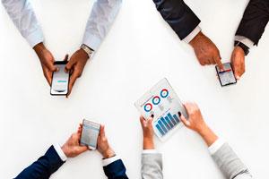 Ilustración de Gestión de finanzas, prestamos online y la economía digital